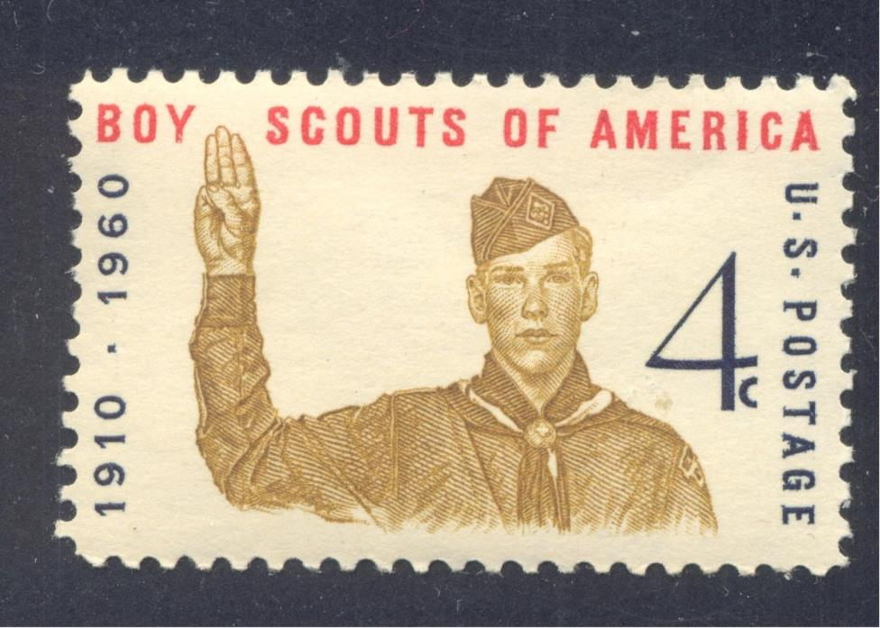 Scouting: Boy Scout giving Scout Sign,