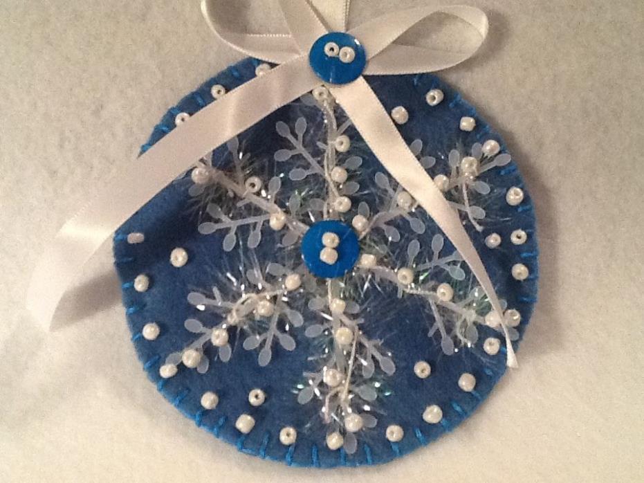 Christmas ornament, decoration, blue