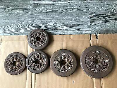 Vintage BFCO OLYMPIC Barbel Weight Plates set