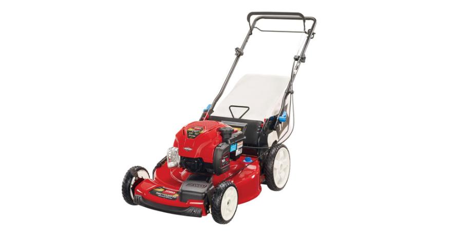 22 in. High Wheel Variable Speed Walk Behind Gas Self Propelled Mower Smart Stow