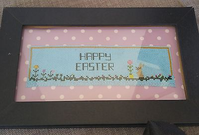 Hand made Easter wall hanging in cross stitch