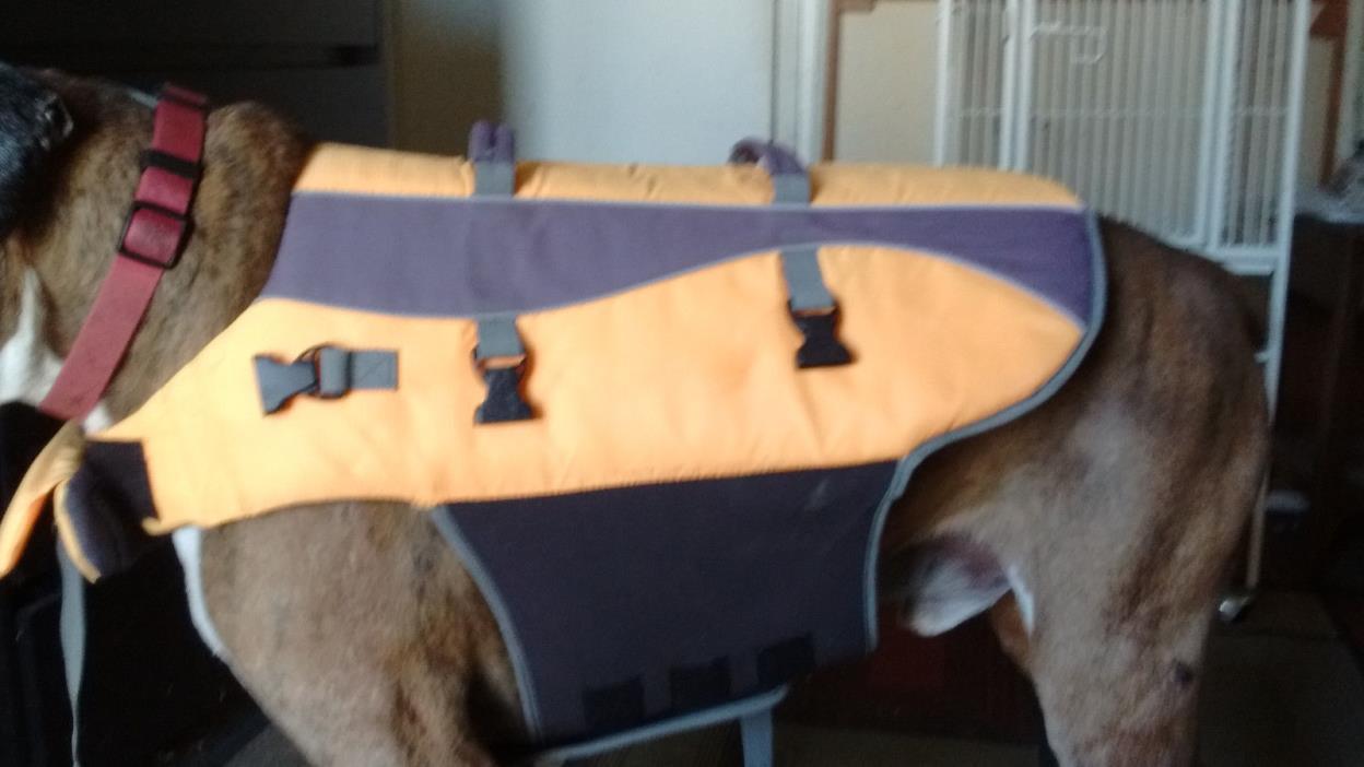 Dog Floatation Life Jacket Yellow Vest Large Dog