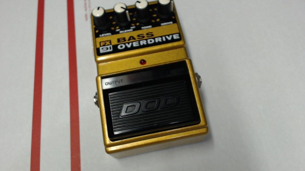 DOD FX91 Bass Overdrive Analog Distortion Rare Guitar Effect Pedal