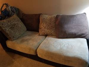 Sectional Couch, baby swing, high heels and purse (Waukesha)
