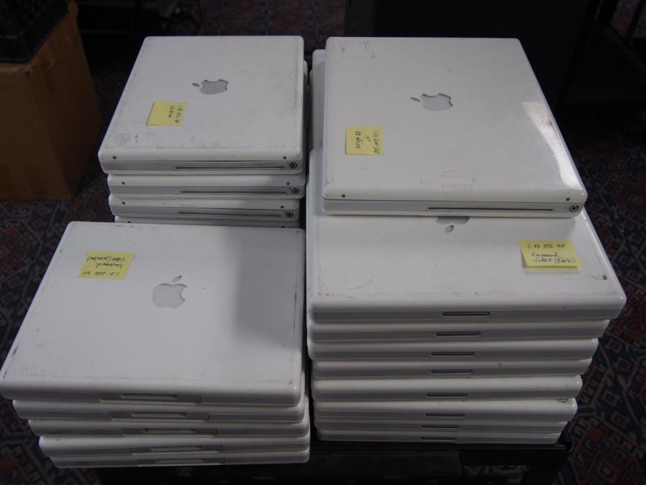 LOT OF 30 Apple iBook G4 12.1