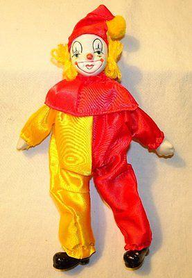 Clown Doll Porcelain Bisque Vintage