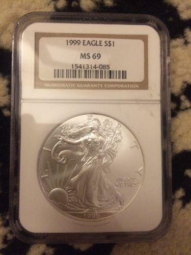 1999 Silver Eagle Ngc Ms69