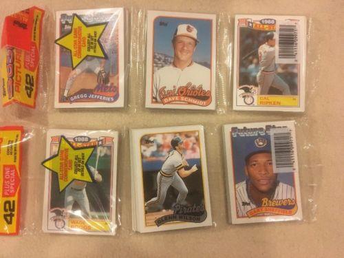 (2) SEALED 1989 Topps Baseball Rack Packs