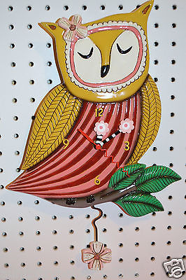 Michelle Allen Designs Owl Clock WISE OWL Whimsical ships in 24 hours