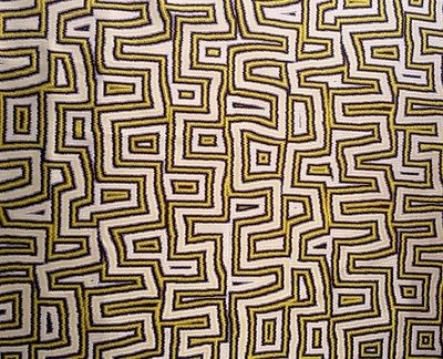 ZIMMER & ROHDE Caleido Citrine Geometric Ethnic Viscose Silk Remnant New