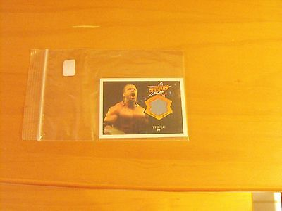 2013 Topps Best of WWE Wrestle Mania 29 Authentic Mat Relic Triple H card