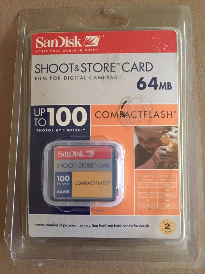 Sandisk CF 64MB 100 Picture Compact Flash (SDCFS-64-A10)