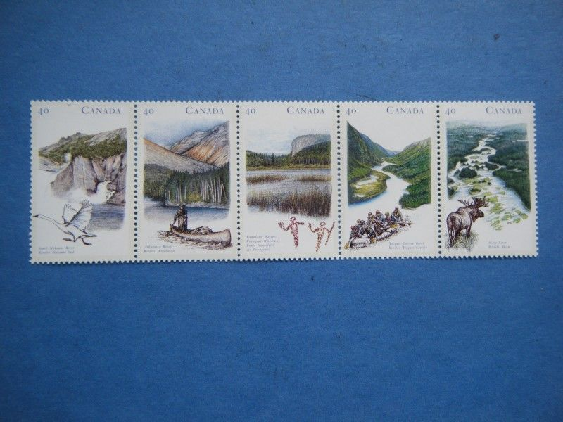Canada#1321-25 MNH Booklet Strip 'Heritage Rivers-1' Lot#P43