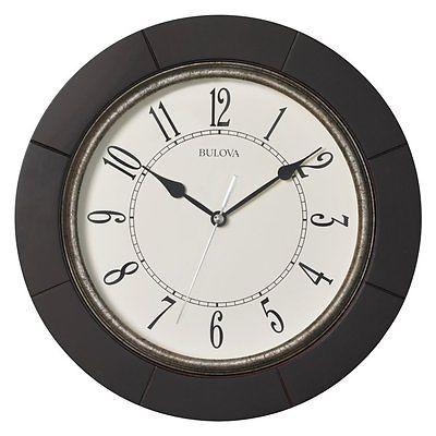 Bulova Deco 12 in. Wall Clock, Espresso