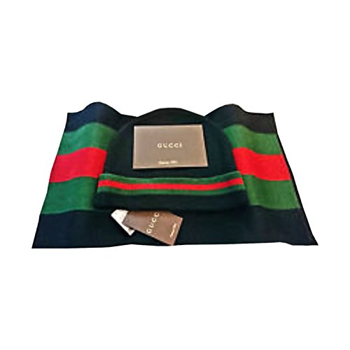 Gucci black scarf and hat set