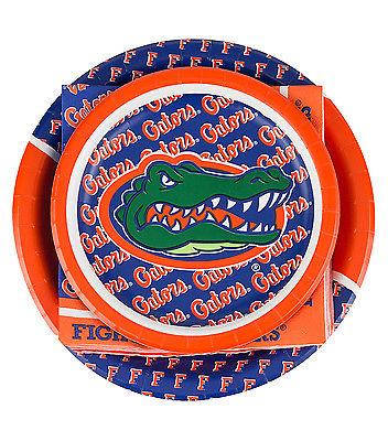 Florida Gators Party Pack 8 Guest Dinner & Dessert Plates, Napkins