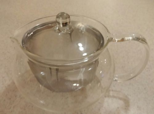 Clear Glass Teapot with Stainless Infuser - Nice!