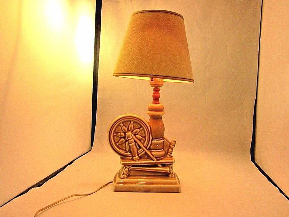 VTG 50'S TV LAMP SPINNING WHEEL  ORIGINAL WORKS COLLECTIBLE