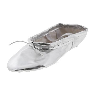 MSMAX 8686 Silver 2PK Toddler Dance Ballet Shoes 9 Medium (B,M) BHFO