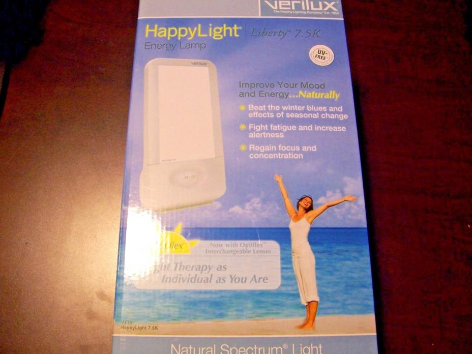 new verilux vt15 liberty 7.5k happy light energy lamp natural spectrum therapy