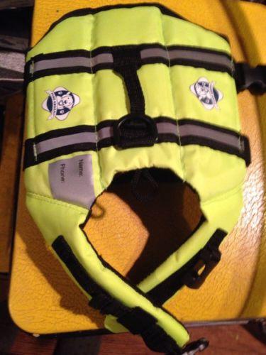 Paws Aboard Dog Life Jacket Yellow (XS 7-15 lbs)  ***J5288*