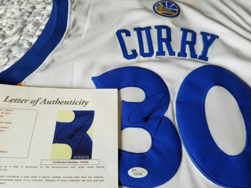 stephen curry autographed jersey Immediate Shipping