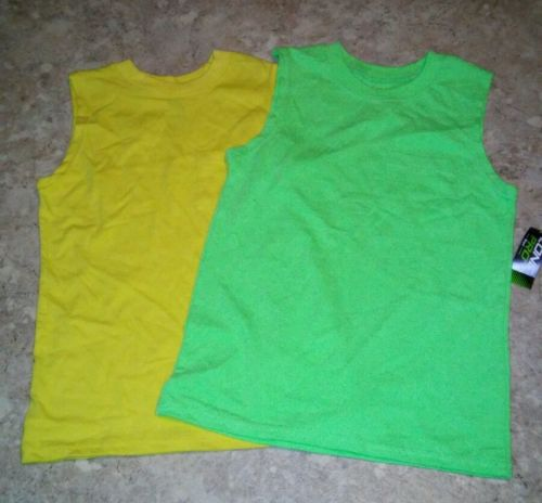 TWO Sleevevless Boys Tanks Zone Pro and OT Sport Sz 6/7 NWT