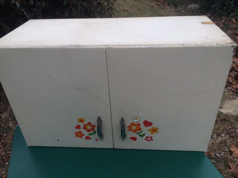 metal Youngstown Kitchens White Upper Cabinet 1950's