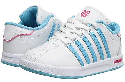 K-SWISS 23270-828 COURT PRO Inf's (M) White/Skyblue  LeatherSynth Casual Shoes