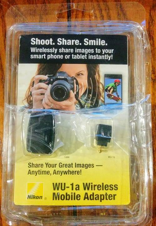 Nikon WU-1a Wireless Mobile Adapter To Share Images to Smart Phone or Tablet New