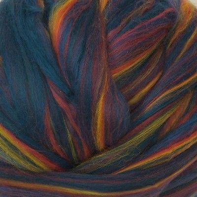 Merino Wool Top Roving Borealis Multi Color 1 Pound