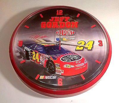 Collectors Jeff Gordon 24 Nascar Round Clock