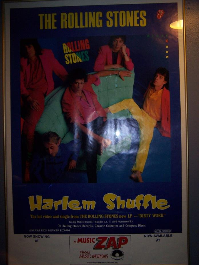 rolling stones harlem shuffle 1986 poster