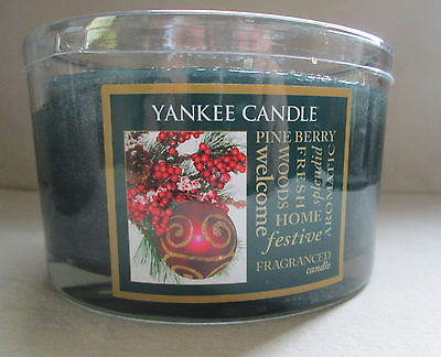 Yankee Candle -~~PINE BERRY~~ 3 Wick Candle