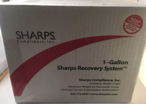 Sharps Recovery System 1 Gallon Needle Disposal Container w/Free Return Postage