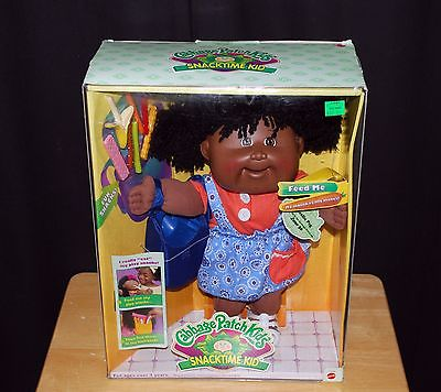 Cabbage Patch Kids that Eat Snacks African American Black Doll Sealed RARE