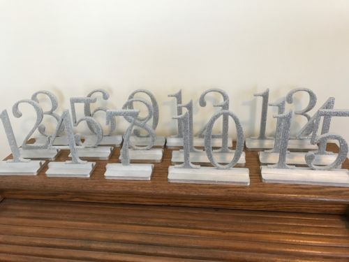 Set Of Wedding Table Numbers