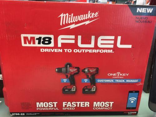 Milwaukee M18 FUEL 18V Li-Ion 2-Tool ONE-KEY Combo Kit 2796-22