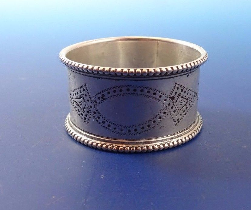 English Sterling Silver Napkin Ring Made (#1061)