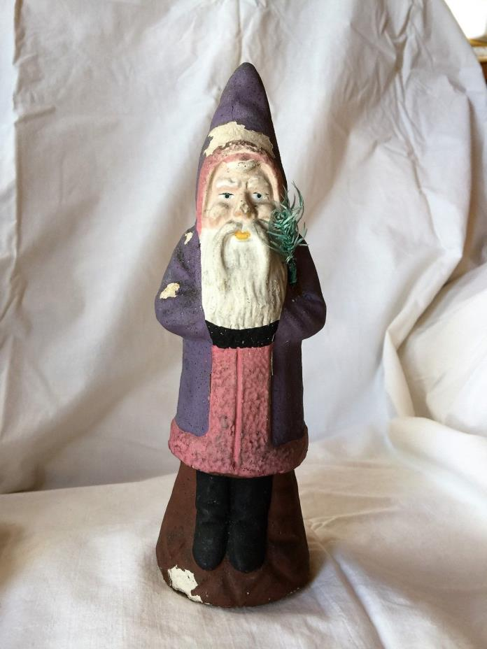 Vintage Rare German Purple Belsnickle Santa Candy Container