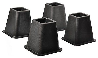 Home-it 5 to 6-inch SUPER QUALITY Black bed risers, helps you storage under the