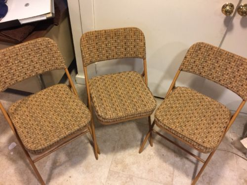 SAMSONITE FOLDING CHAIRS with CUSHIONED SEATS