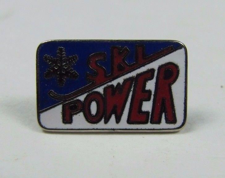 Vintage SKI POWER Skiing Pin Pinback Jacket Hat Lapel Scarf NOAG