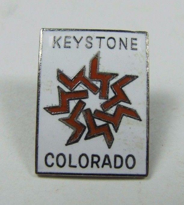 Vintage KEYSTONE COLORADO Skiing Pin Pinback Jacket Hat Lapel Scarf NOAG