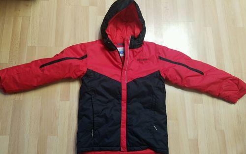 EUC Columbia Boys Youth Sz L Large  Omni-Tech Red Hoodie Jacket