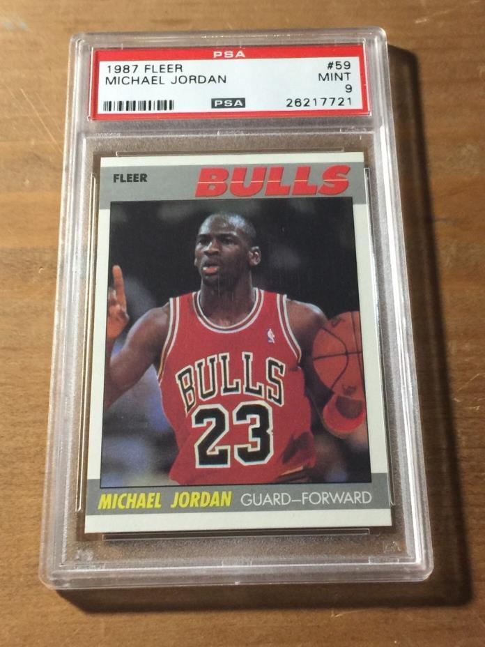 1987 FLEER Michael Jordan #59 MINT PSA 9 Chicago Bulls 2nd Year