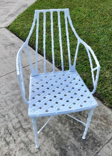 MEADOWCRAFT CHIPPENDALE FAUX BAMBOO VTG Chairs Palm Beach Hollywood Regency