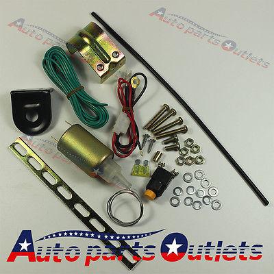 New  Hatch Power Car Alarms Trunk Release Solenoid Pop Truck Electric Open Kit