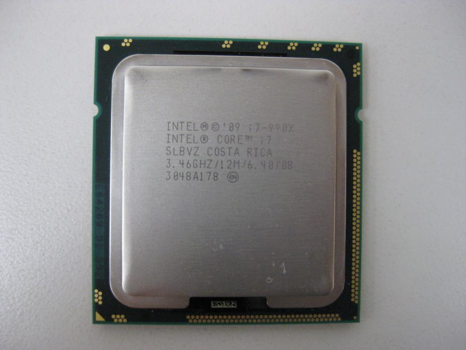 Intel Core i7-990X Extreme Edition 6-Core 3.46 GHz LGA 1366 130W Processor SLBVZ