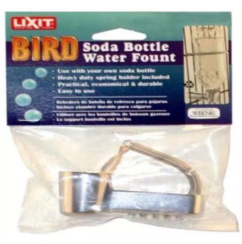 Lixit Soda Pop Bottle Water Fountain Metal  PB10 GNAW PROOF  Bird & Small Pets
